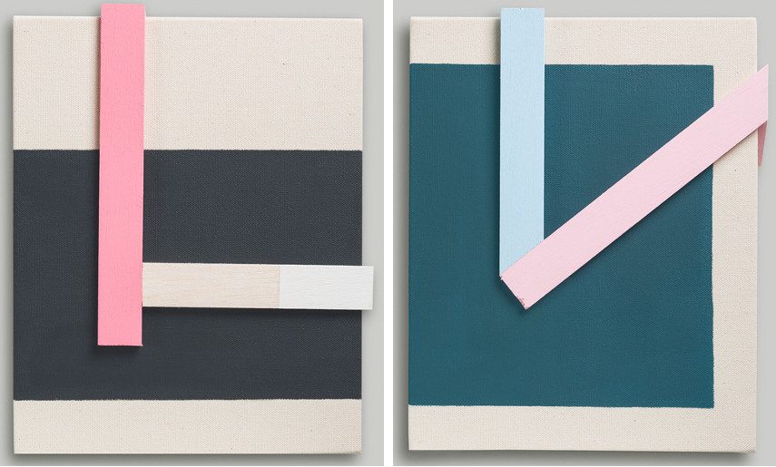 Anibal Vallejo - Untitled #1, 2015 (Left) / Untitled #2, 2015 (Right)