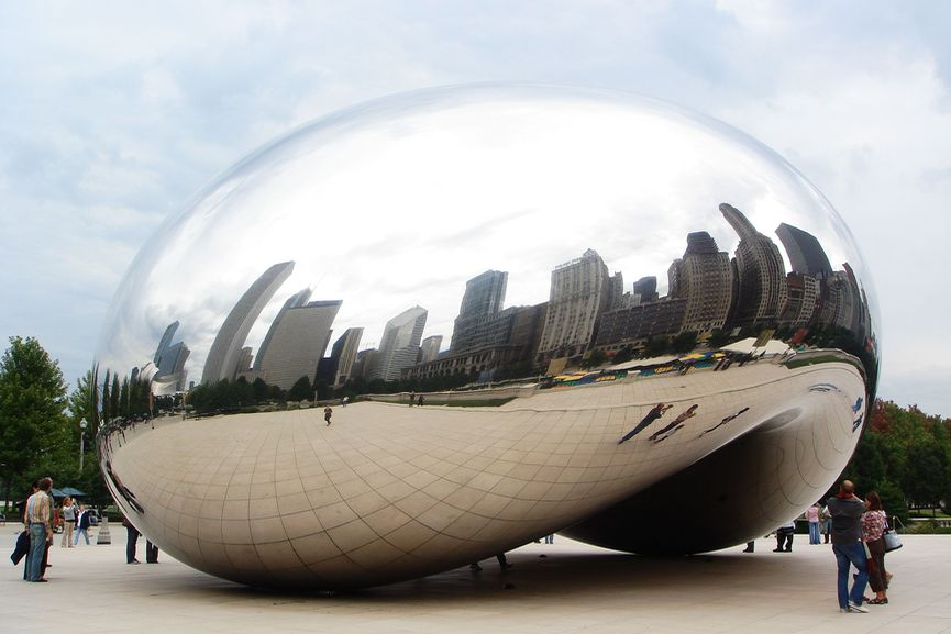 Anish Kapoor - Chicago's Cloud Gate, via hypebeast com