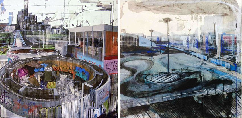 Anna Capolupo - Periferia, Torino Nowhere #5, 2014 (Left) / Torino Nowhere #9, 2014 (Right)