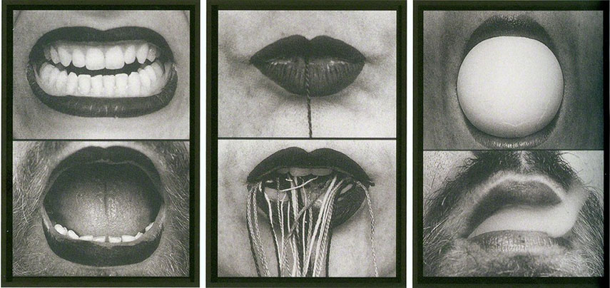 Anna Maria Maiolino - In-Out (Antropofagia) [In-Out (Antropophagy)], from Fotopoemação [Photopoemaction] Series, 1973–74
