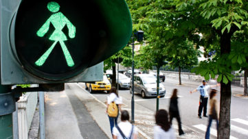 Anna Scalfi - Untitled 2005 (Green Woman on the Traffic Light), 2005