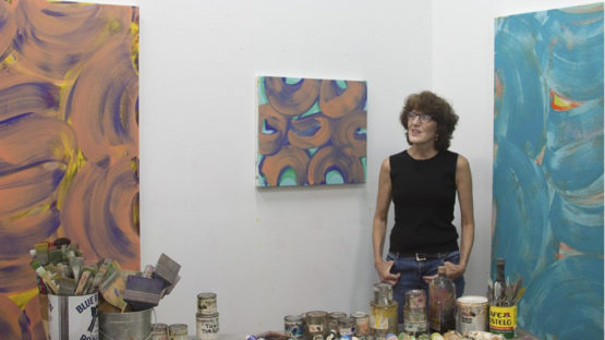 Anne Russinof in her studio