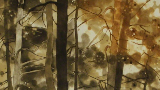 Anne Walker - Forêt d'automne  Autumn Forest - image courtesy of Sylvan Cole Gallery