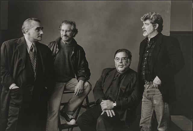 Annie Leibovitz-Martin Scorsese, Steven Spielberg, Francis Ford Coppola and George Lucas, Skywalker Ranch, California-1996