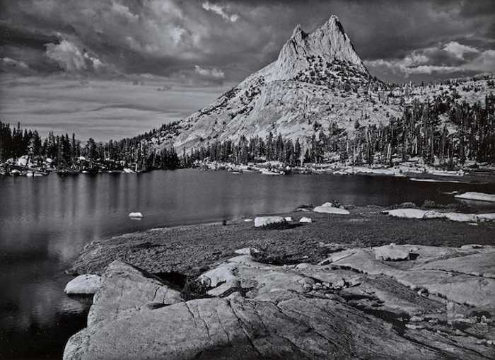 Ansel Adams-Cathedral Peak and Lake, Yosemite National Park, California-1960