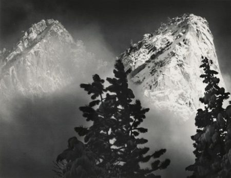Ansel Adams-Eagle Peak And Middle Brother Winter Yosemite National Park California-1968
