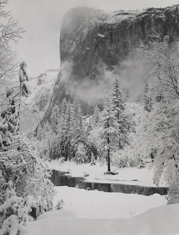 Ansel Adams-El Capitan, Winter, Yosemite National Park, California-1948