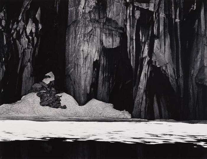 Ansel Adams-Frozen Lake and Cliffs, Sierra Nevada, California-1927