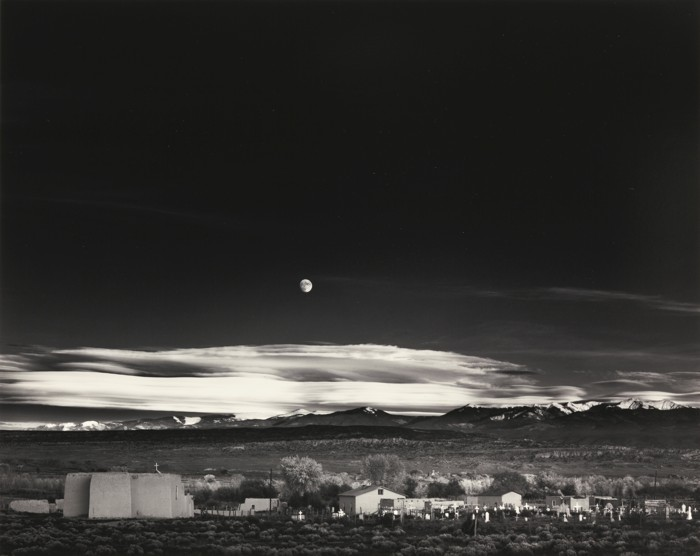 Ansel Adams-Moonrise Hernandez New Mexico-1941