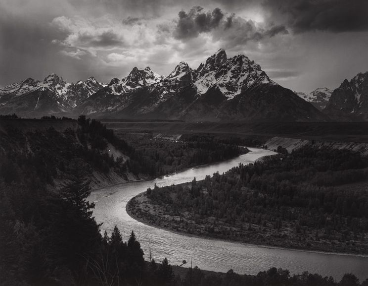 Ansel Adams - The Tetons and Snake River, Grand Teton National Park, Wyoming, 1942