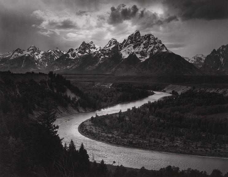 Ansel Adams - The Tetons and Snake River, Grand Teton National Park, Wyoming, 1942