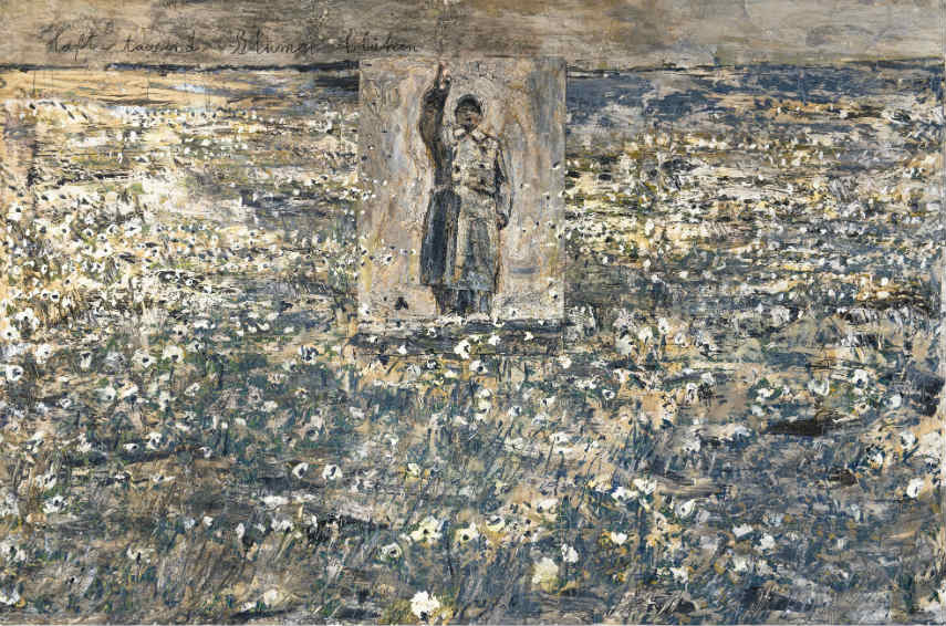 conntact Anselm Kiefer and use this terms for media
