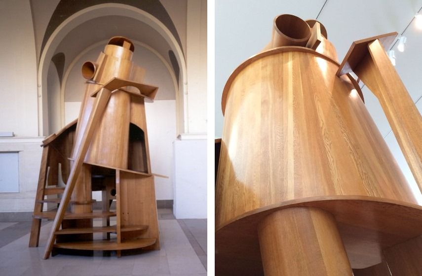 Anthony Caro - Child's Tower Room, 1983 to 1984 (left), Detail (right)