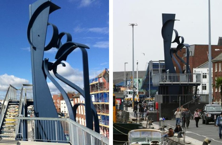sculpture gallery tate 2013 sir britain sculpture gallery tate 2013 sir britain exhibition works exhibition works exhibition works exhibition works Anthony Caro - Sea Music, 1991 (left), Sea Music on Poole Quay (right), photo credits Bournemouthecho