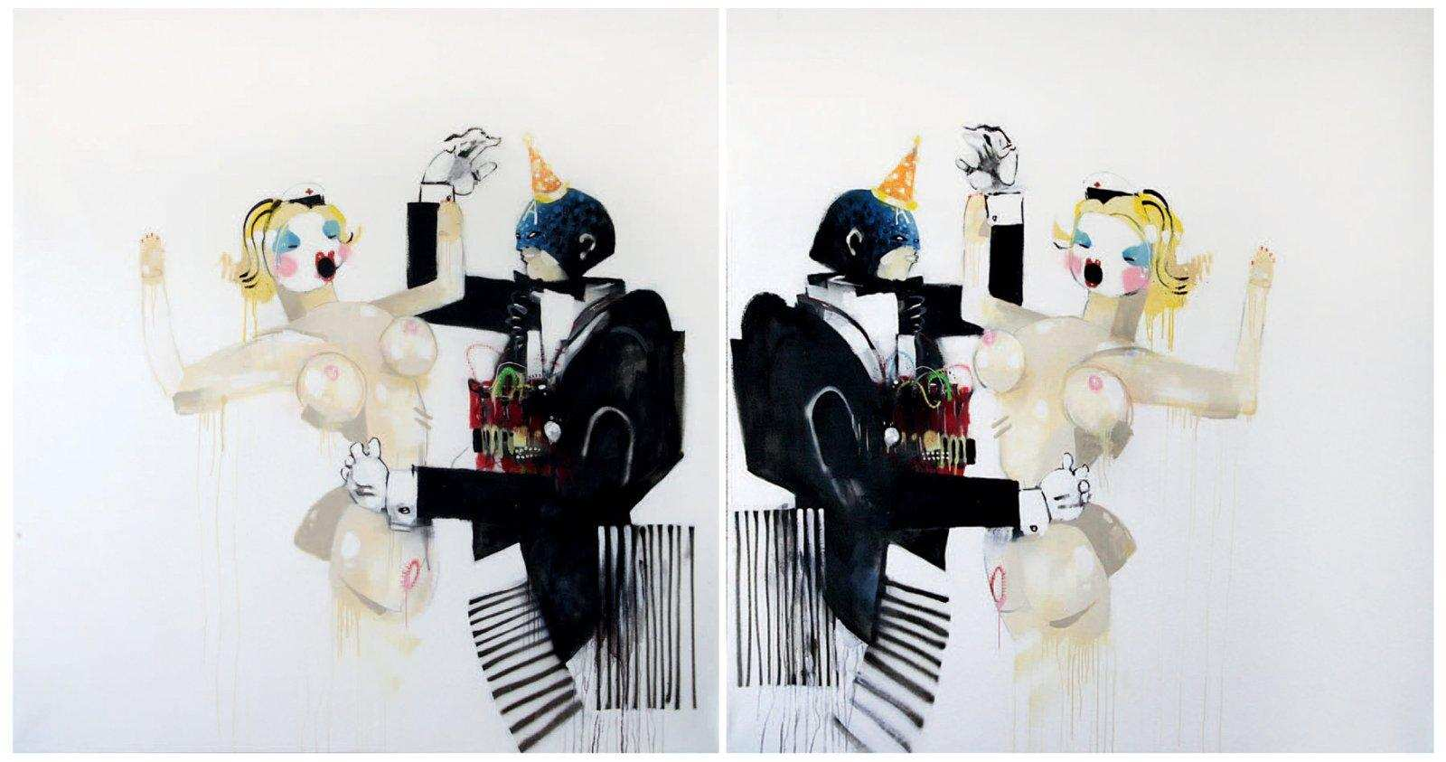 Anthony Lister-Ever dance with a suicide blonde-2008