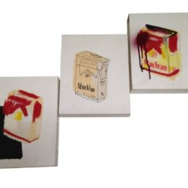 Anthony Lister-Man/Cigarette Boxes (Triptych)-2010
