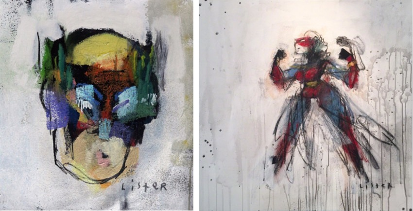 Anthony Lister - Mech Man, 2015 (Left) / Heavy Dope, 2015 (Right) like close