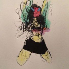 Anthony Lister-Mini Skirt Dancer
