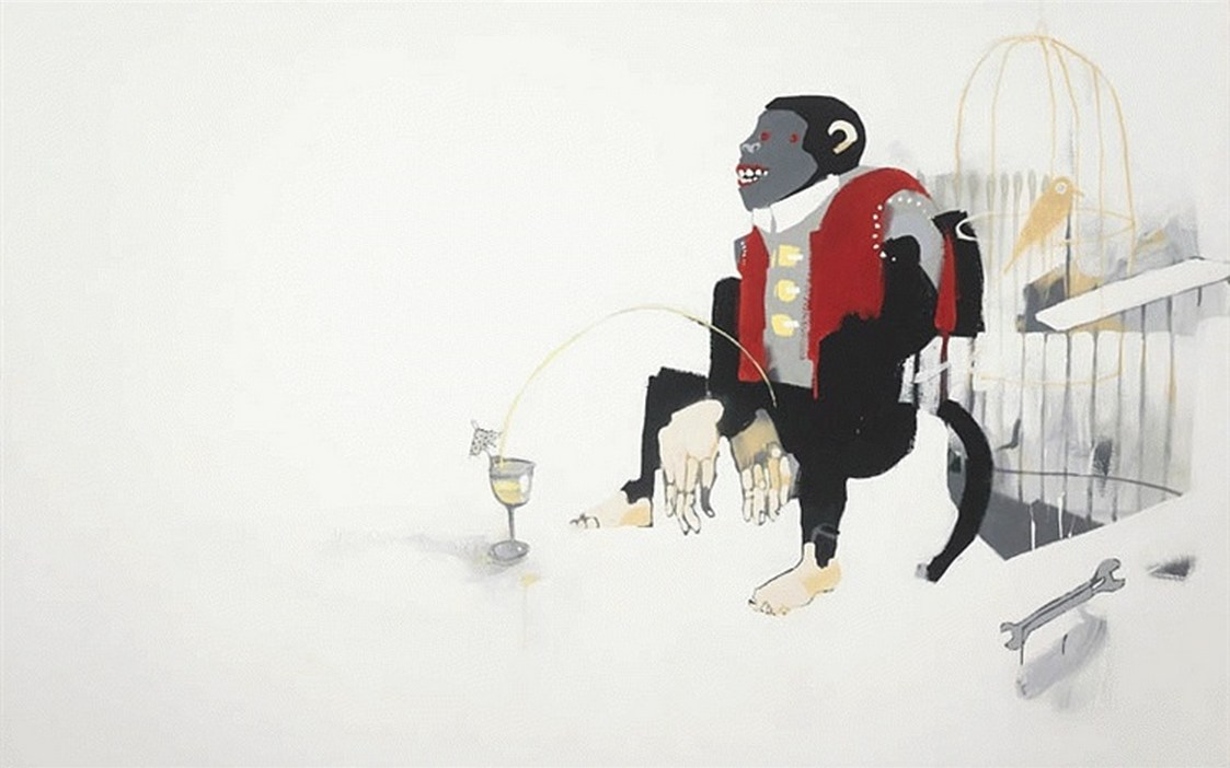 Anthony Lister-Monkey Drink-2006