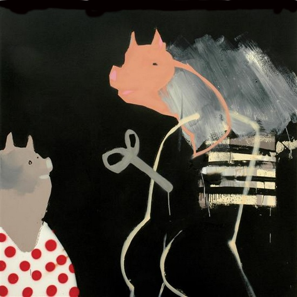 Anthony Lister-Mr Pig's wind up Invitation-2006