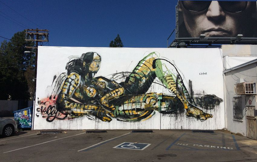 Anthony Lister - mural in Los Angeles, CA