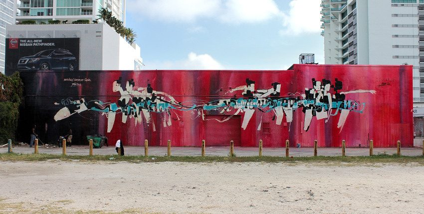 Anthony Lister - mural in Miami, FL, 2012