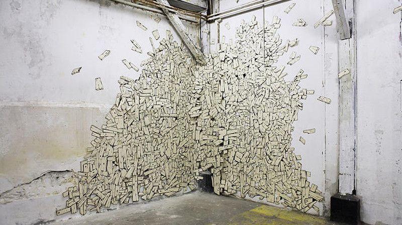 Antoine Desailly - Agglomérat installation, 2012