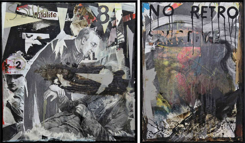 Anton Unai - Cure the Pain and Kill the Artist, 2014 (left) - Zeus Father of Gods and Men, 2014 (right)