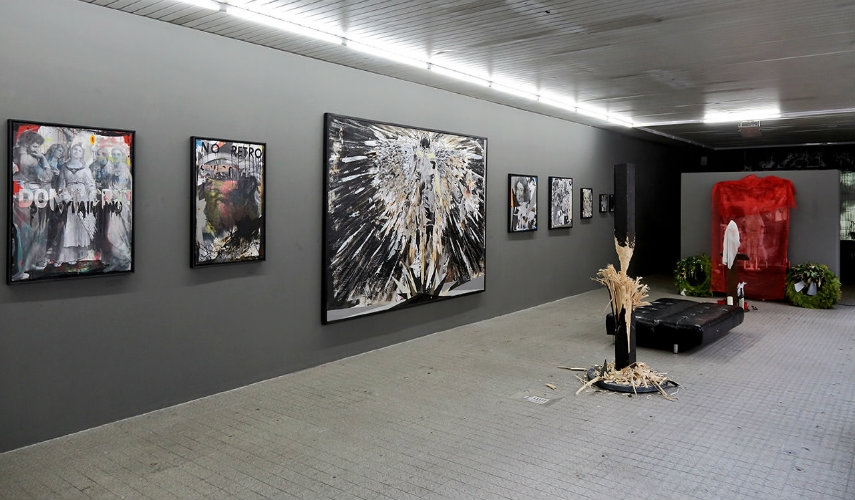 Anton Unai - Exhibition at Open Walls Gallery (installation view), 2014