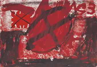 Antoni Tapies-Cercle Rouge-1976