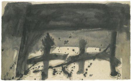 Antoni Tapies-Dos Cruces Sobre Papel Japon-1967