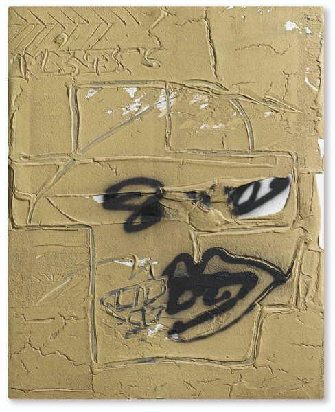 Antoni Tapies-Image Ocre-1988