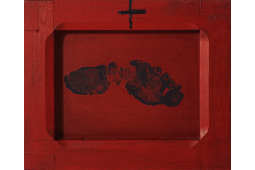 Antoni Tapies - Petjada sobre vermell