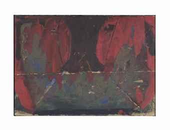 Antoni Tapies-Pintura damunt carto fregat (Painting on Scrubbed Cardboard)-1961