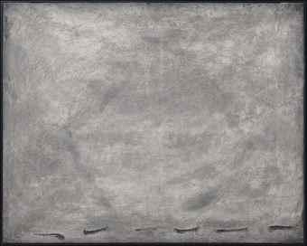 Antoni Tapies-Sombra sobre Gris-1962