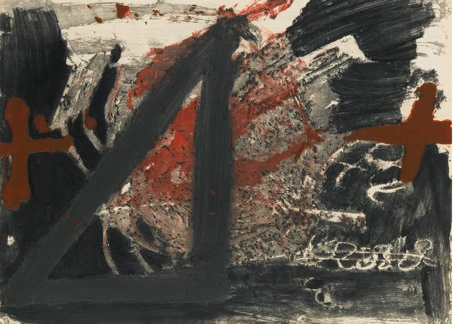Antonio Tapies - Triangle (Galfetti 610)-1976