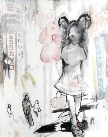 Antony Micallef-Girl With Balloons-2005