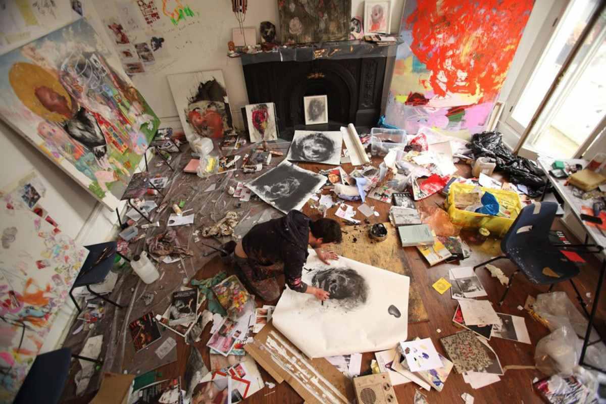 Antony Micallef - Image via huffpostcom painting artwork