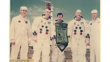 Apollo 10 Austronauts, Gene Cernan, John Young and Tom Stafford, May 18 1969 c NASA
