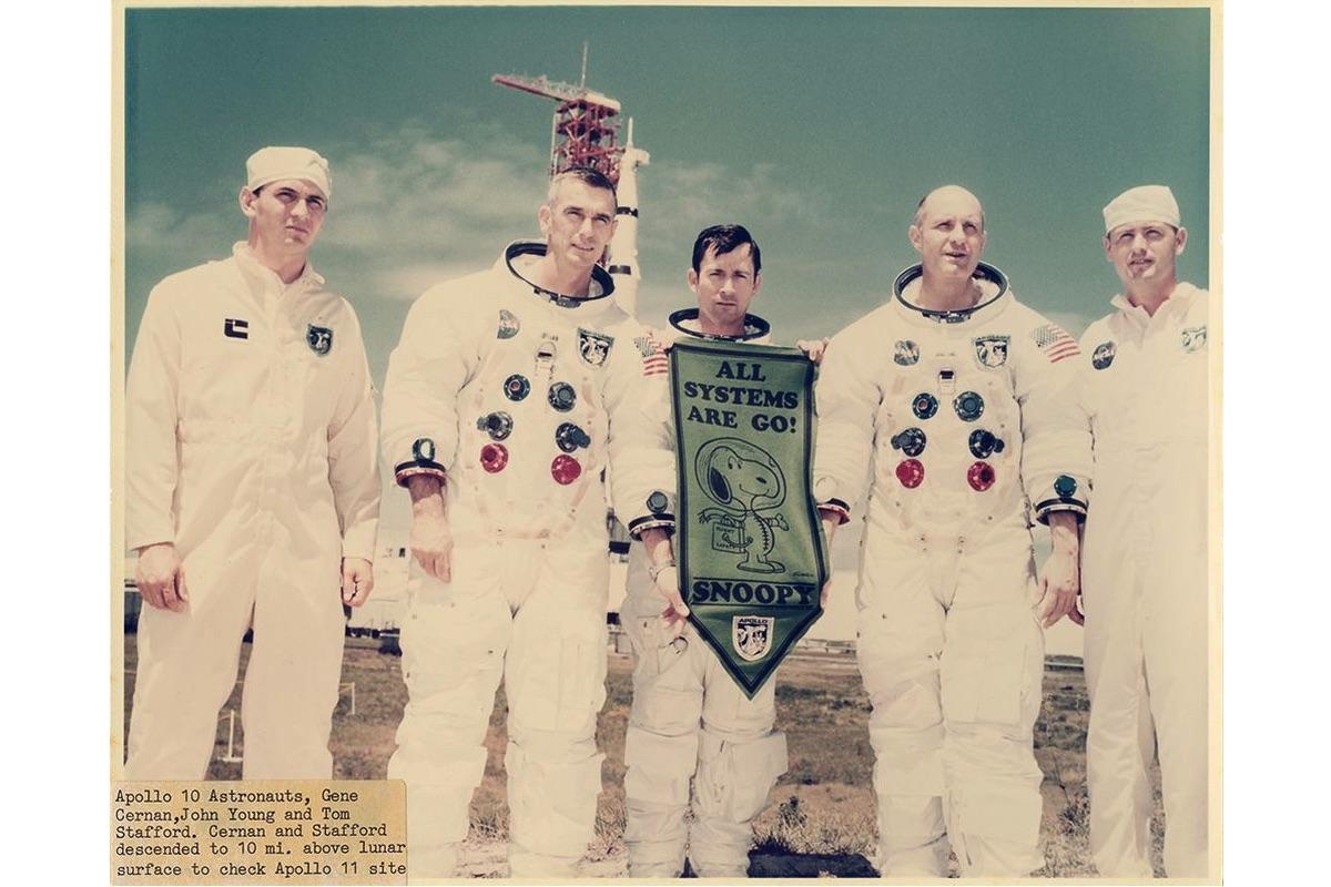 Apollo 10 Austronauts, Gene Cernan, John Young and Tom Stafford, May 18 1969 c NASA
