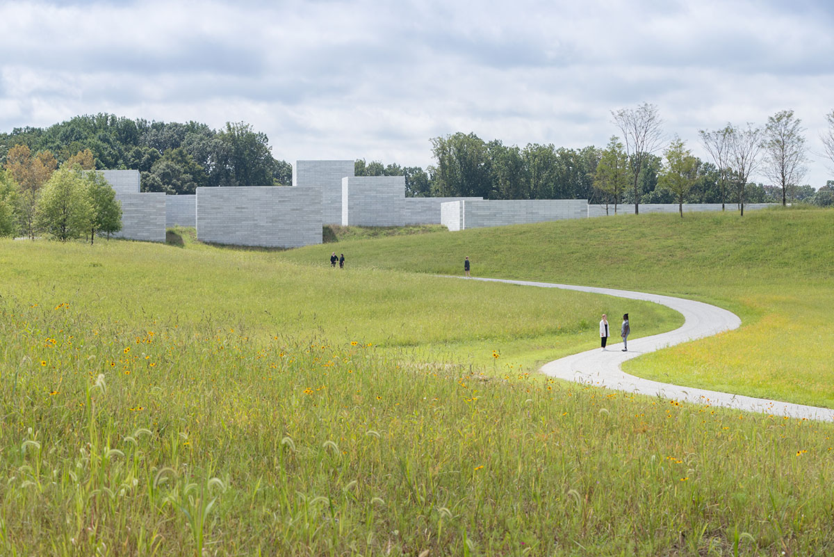 Approach to the Glenstone Museum Pavilions, by Iwan Baan, Glenstone Museum