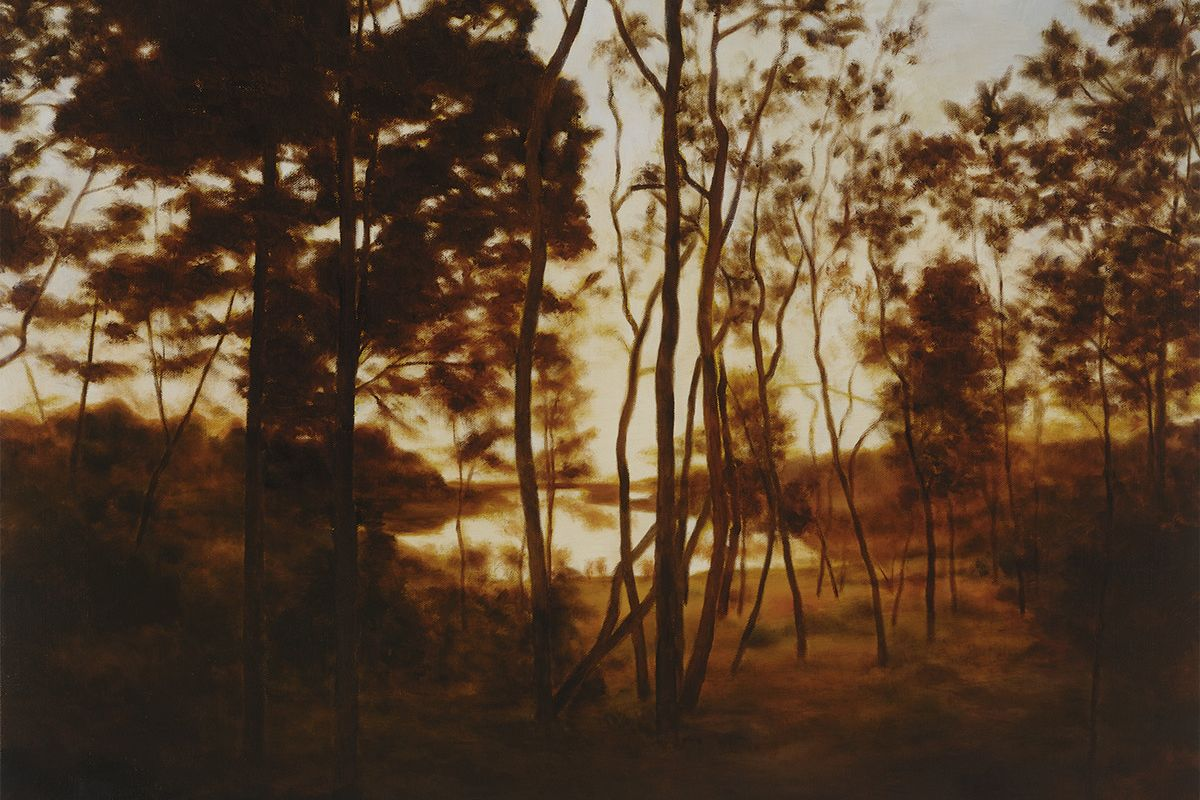 April Gornik - Fall Forest Light (detail), 2015