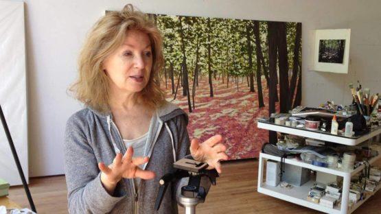 April Gornik in her studio