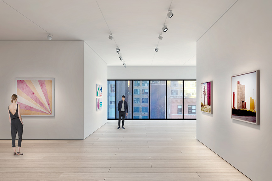 Architectural rendering of the third floor gallery 540 West 25th Street, New York