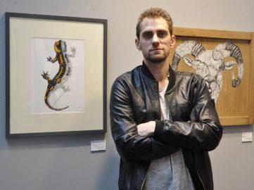 Ardif at Urban Art Fair Paris 2018, courtesy Widewalls