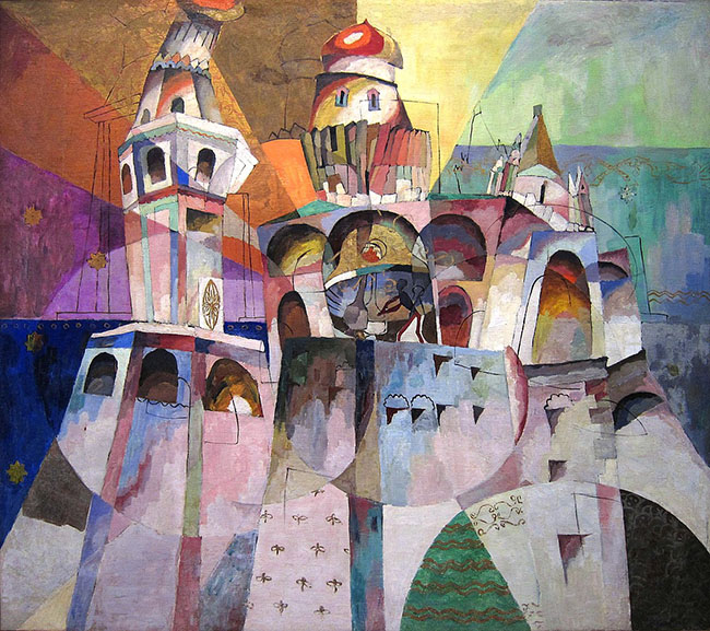 Aristarkh Lentulov - Bellringing. Ivan the Great Bell-Tower, 1915