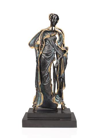 Arman-Standing bronze figure (Spliced Venus)-1990