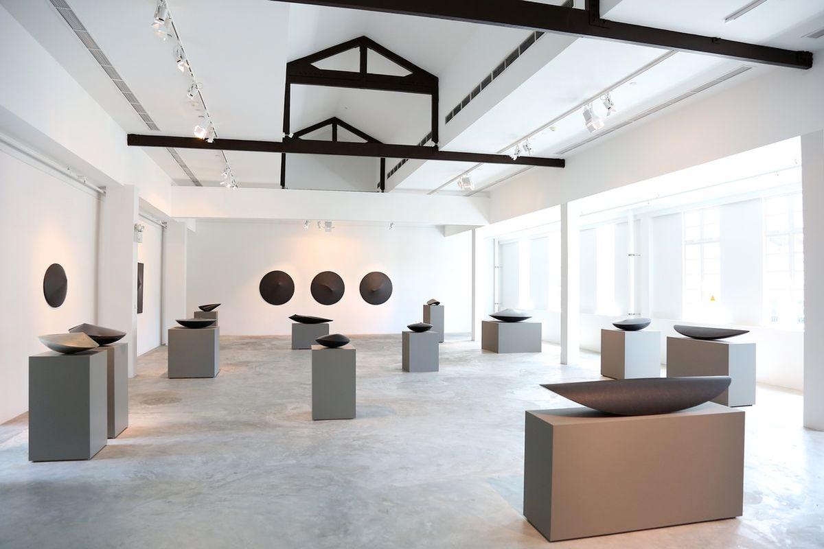 Armen Agop, Installation View, via artpluralgallery com