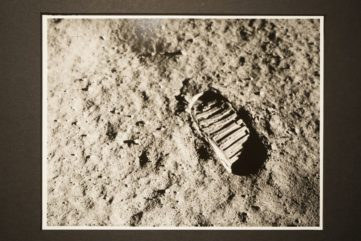 Examples of NASA's Original Photo Archive of The Moon Landing on View in Miami Beach