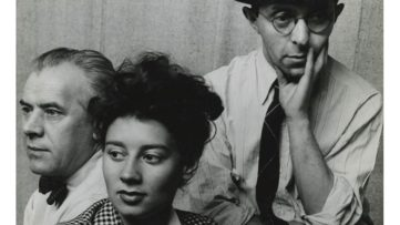 Arnold Newman - Fiene, Ernst, and Rablul Serge, Tana Bloom, 1942
